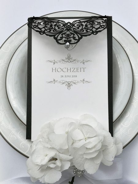 Schwarze Hochzeitskarten Gothic